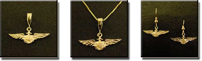 US NAVY (Small) : Sterling Silver