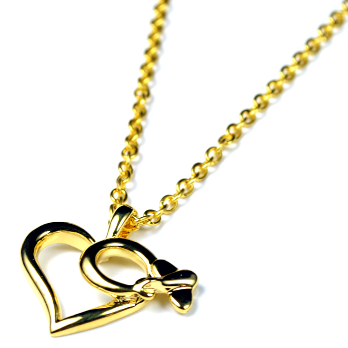 Heart Large Gold Plated Necklace