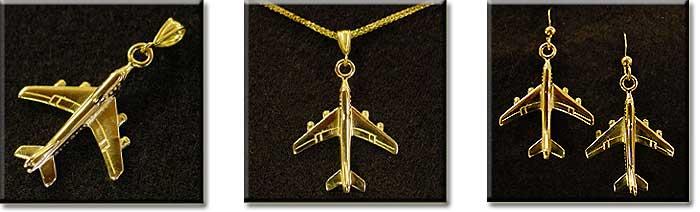 Boeing 747 : 14K Gold
