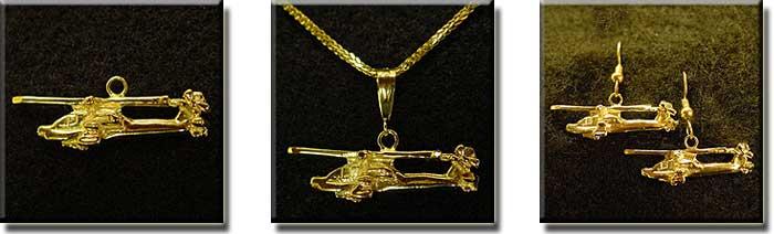Apachie McDonnell Douglas AH-64 : 14K Gold