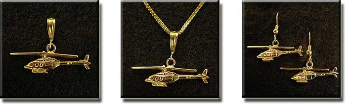 Bell 206B Jet Ranger : 14K Gold