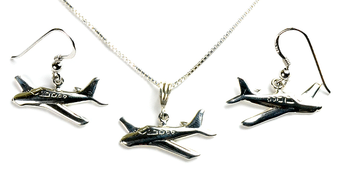 Straight Tail Bonanza A-36 Side View : Sterling Silver