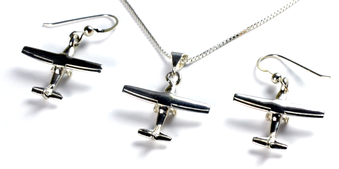 Cessna 172-182 3D : Sterling Silver