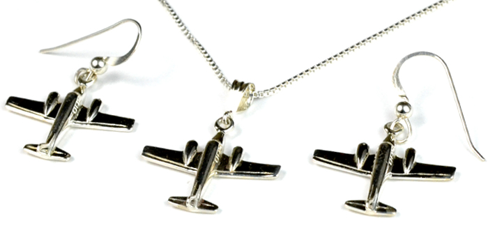 Twin Commanche 3D : Sterling Silver