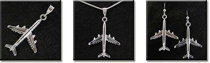Airbus 340 : Sterling Silver