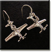 P-51 3D Top View 4 Bladed Spinning Prop : Sterling Silver