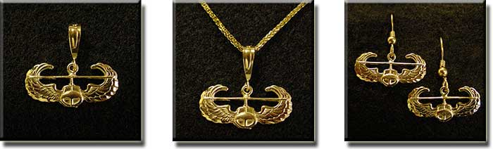 Helicopter Wings : Sterling Silver