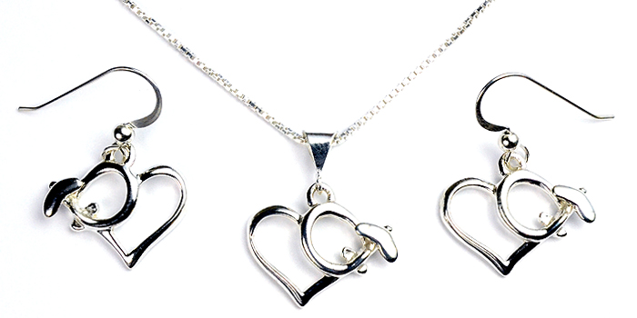 High Wing Heart : Sterling Silver