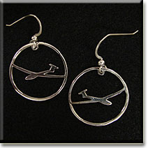 T-Tail Circle : Sterling Silver