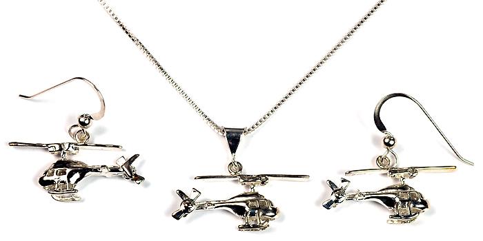 3D Jetranger, Kowa, or  Searanger : Sterling Silver